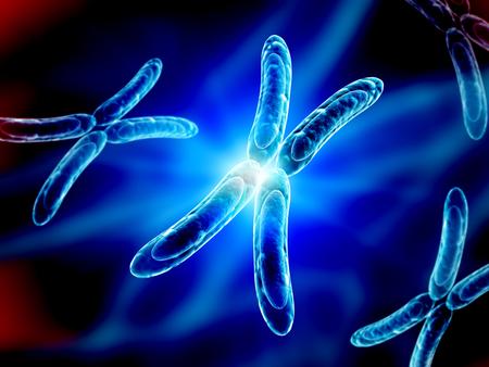 cromosoma: Cromosoma X sobre fondo azul