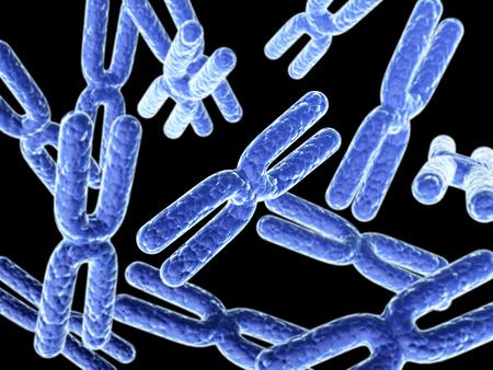 chromosome: X chromosome on abstract blue background