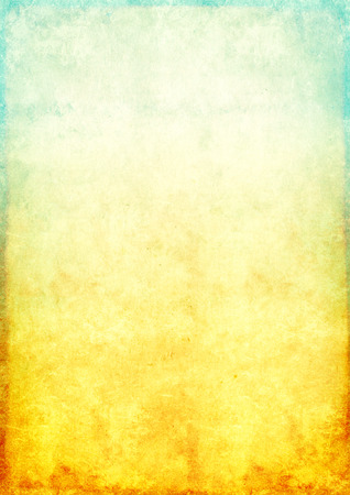 soiled: Background - a texture of the old, soiled paper of blue and yellow color Stock Photo