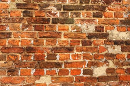 paredes de ladrillos: Textura de la antigua pared de ladrillo. Puede ser utilizado para el papel pintado, el fondo de la página web, las texturas de la superficie Foto de archivo