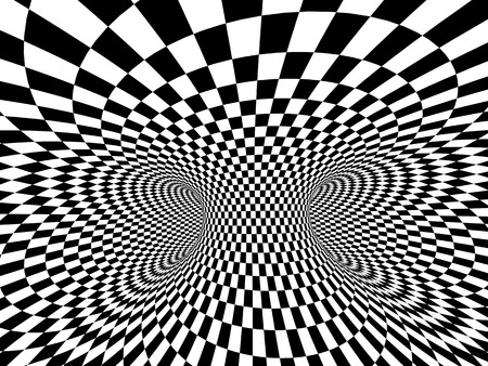 illusion: Abstract illusion. Black and white