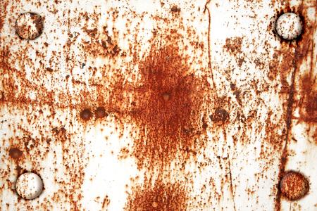 oxidado: fondo del grunge - textura de metal oxidado con remaches