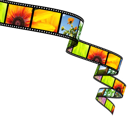 3d filmstrip. Object isolated on white background