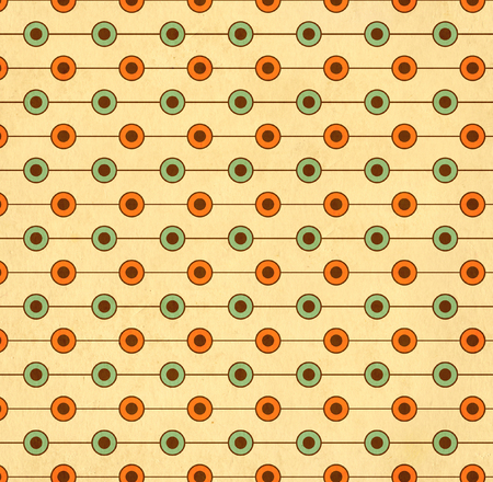 soiled: Texture of the old soiled paper with geometric ornamental pattern Stock Photo