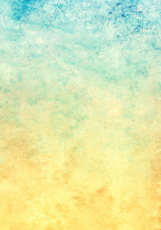 soiled: Grunge background with texture of old soiled paper of yellow and blue color