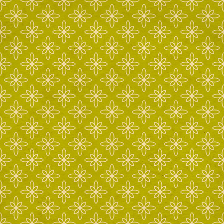 material flower: Seamless texture of the old paper with retro geometric ornamental pattern Stock Photo