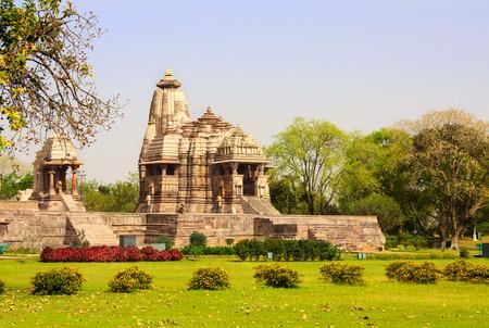khajuraho: Ancient temple, Western Temples in Khajuraho, Stock Photo