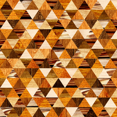parkett: Grunge background with wooden triangles patterns of different colors