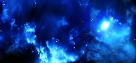 interplanetary: A beautiful space scene with stars and nebula