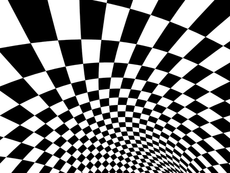 spire: Abstract illusion. Black and white. 3d render Stock Photo