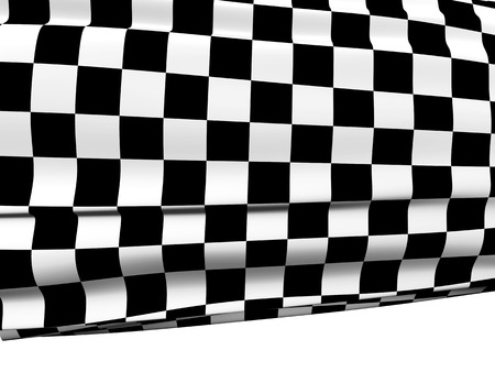 checked flag: Sports background - abstract checkered flag. Isolated on white background. 3d render