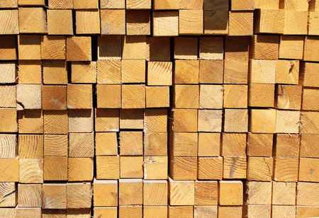 building materials: Wooden boards in a warehouse of building materials
