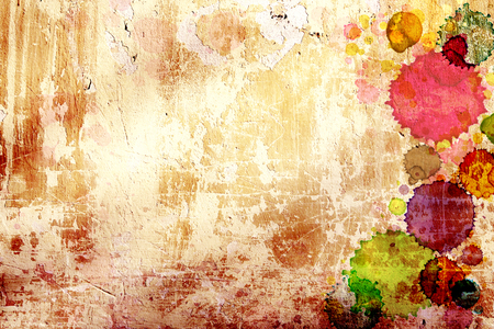 stucco texture: Grunge background. Texture old stucco wall with stains of paint different colors