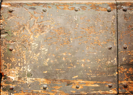rivets: Texture of ancient wood with rivets and cracked paint