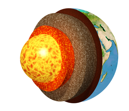 Structure of the Earth Stock Photo