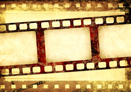 paper old: Grunge background with retro filmstrips and old paper texture