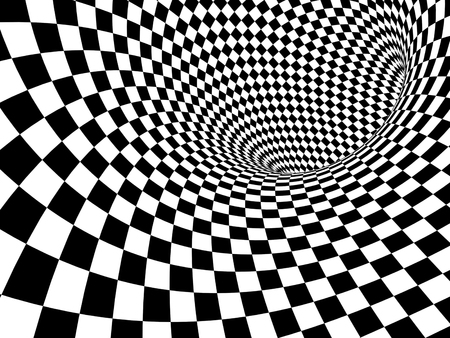 illusions: Abstract illusion. Black and white. 3d render Stock Photo