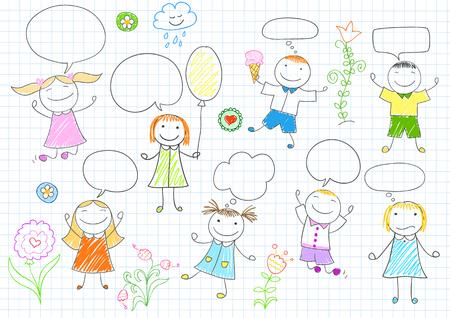 balloon girl: Happy children Illustration