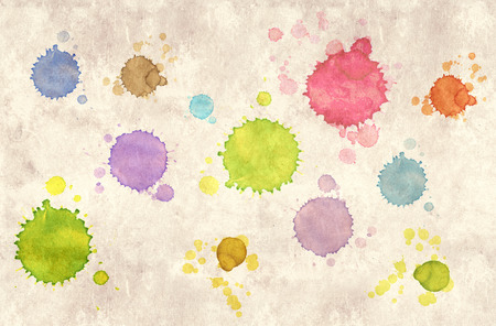 Grunge background. Texture old paper with stains of milti-colored paint Stock Photo