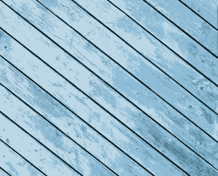 panelling: Vector texture old wooden boards of blue color