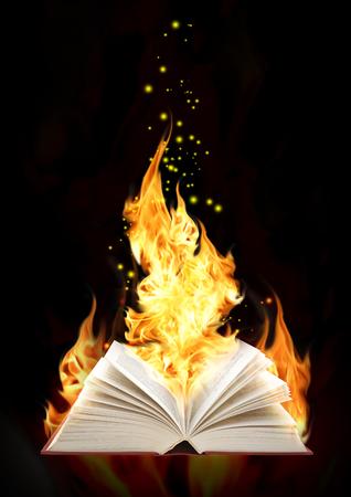 cuatro elementos: Set - books of four elements. Book of magic fire