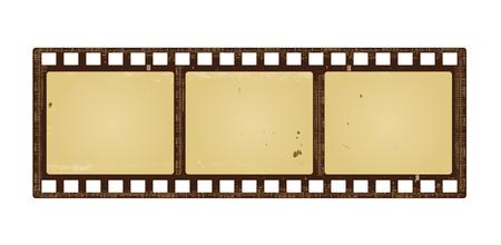retro grunge: retro filmstrip with grunge paper texture.