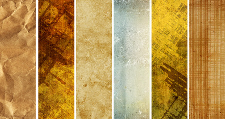 old paper: Collection of banners with texture old paper Stock Photo