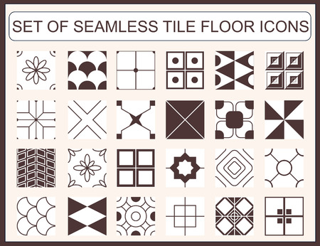sampler: Collection of seamless tile floor icons Illustration
