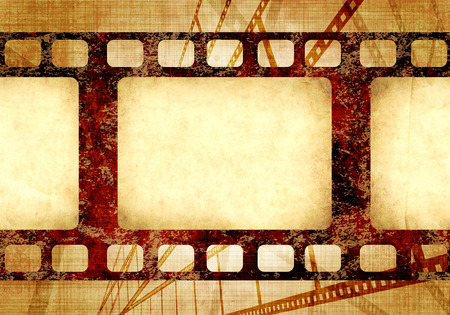 old paper: Grunge background with retro filmstrips and old paper texture