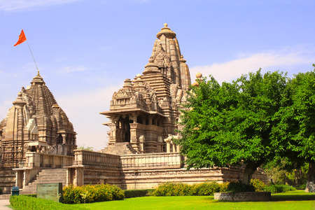 kamasutra: Lakshmana temple, built by Chandela Rajputs, is situated in the Western Group of temples, Khajuraho, Madhya Pradesh, India. Unesco World Heritage Site
