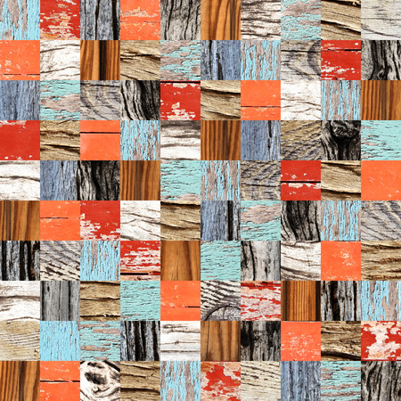 Seamless background with wooden patterns and cracked paint of different colors. Endless texture can be used for wallpaper, pattern fills, web page background, surface textures