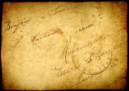 Fondo del grunge de la vendimia con la textura de papel viejo y la inscripción