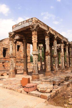 quitab: Qutub-Minar arches, New Delhi, India.  UNESCO World Heritage Site Stock Photo