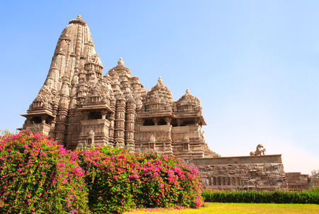 kamasutra: Devi Jagdambi Temple, Western Temples in Khajuraho (Temples of love), Madya Pradesh, India. Unesco World Heritage Site