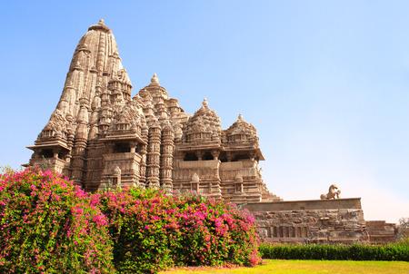 Devi Jagdambi Temple, Western Temples in Khajuraho (Temples of love), Madya Pradesh, India. Unesco World Heritage Site