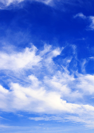 wispy: White clouds in the blue sky