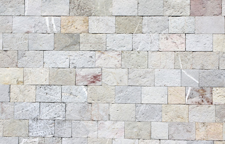 surface level: Texture of wall with marble blocks