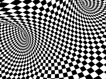 Abstract illusion. Black and white. 3d render Reklamní fotografie