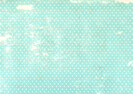 Grunge background with dots pattern and old paper texture of blue color Stock Photo