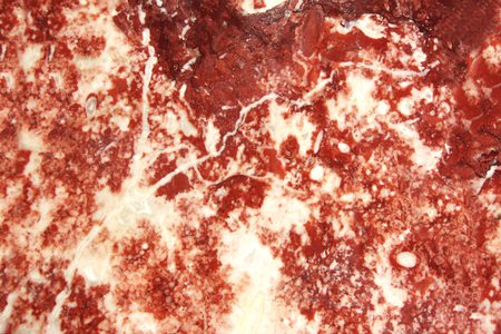 Texture of marble of red and white color Stock Photo