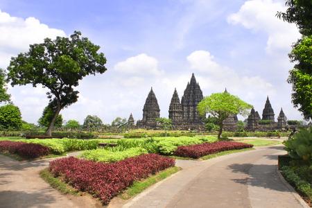 Santuario del templo hindú de Prambanan, Yogyakarta, Java Central, Indonesia. Foto de archivo