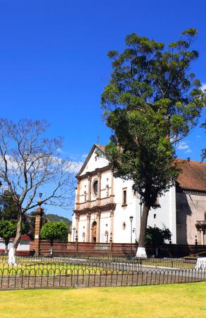 Church of Our Virgin of Health (basilica de Nuestra Senora de la Salud), Patzcuaro, Morelia, Mexico. Spring day