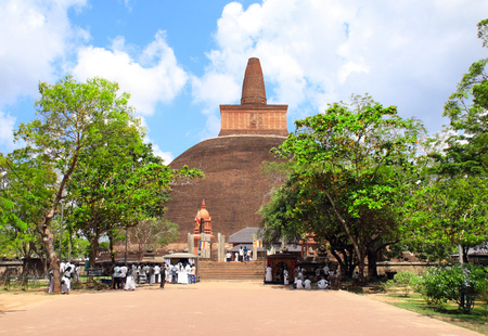 Famous Jetavaranama dagoba stupa in ancient city Anuradhapura, Sri Lanka. Stok Fotoğraf