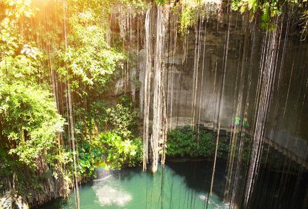 Ik-Kil cenote near to Chichen Itza, Yucatan, Mexico