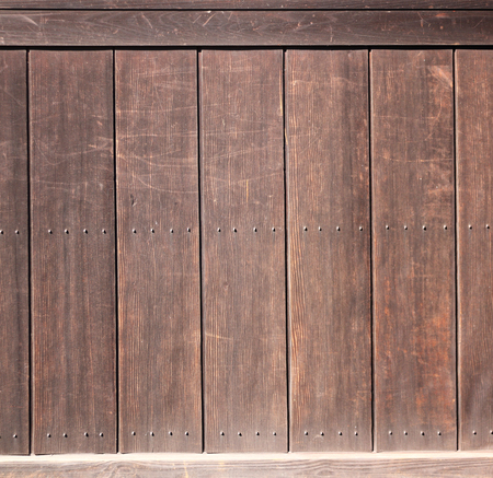 Texture of ancient wood with metal rivets. Mock up template. Copy space for text Stock Photo