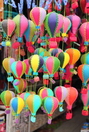 Traditional Cappadocian souvenirs - leathers balloons, Cappadocia, Turkey