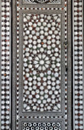 Mother-of-pearl inlay on wall in Topkapi palace, Istanbul, Turkey
