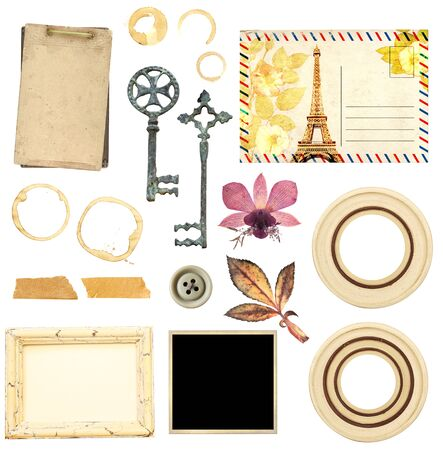 Set of elements for scrapbooking. Object isolated on white background.