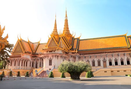 Silver Pagoda or Temple of Emerald Buddha (Temple of Crystal Buddha) at Royal Palace, Phnom Penh, Cambodia