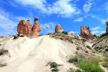 Camel rock at Devrent valley (Imaginary valley) in Cappadocia, Anatolia, Turkey.